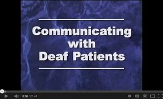 Communicating with Deaf Patients